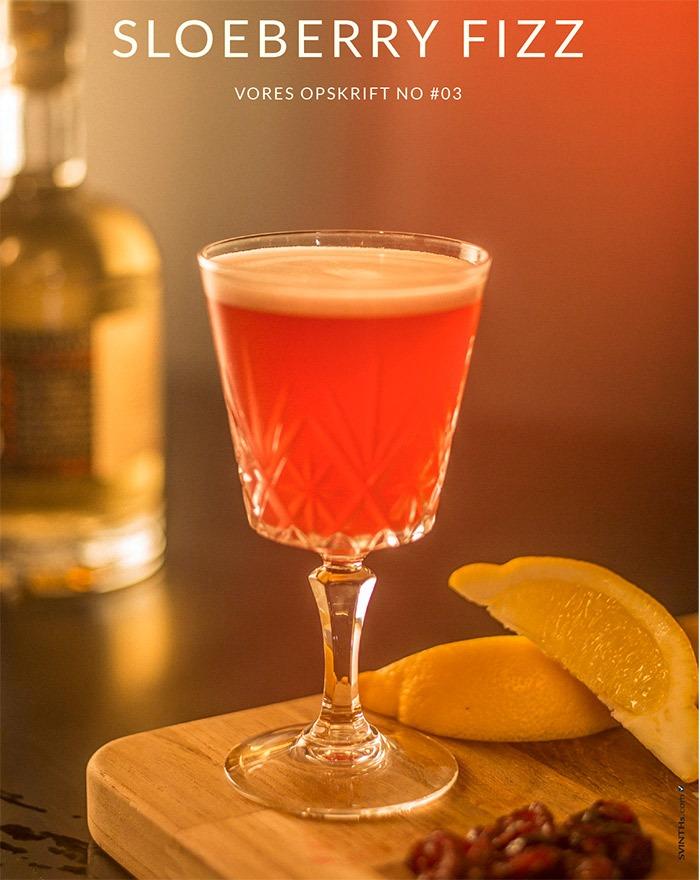 SLOEBERRY FIZZ Cocktail med Fary Lochan
