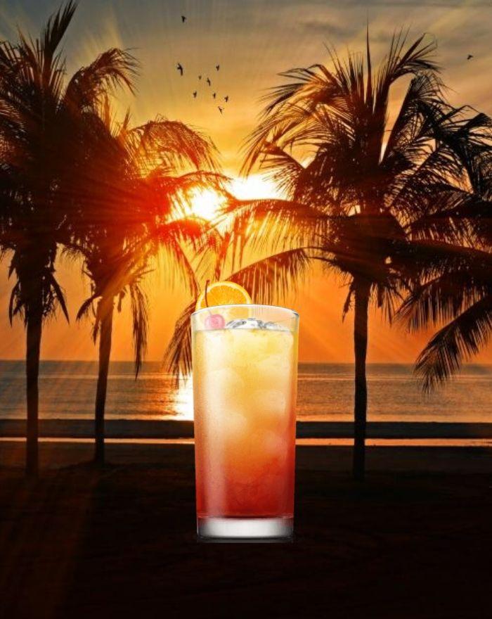 Tequila Sunrise Opskrift på  den kendte cocktail
