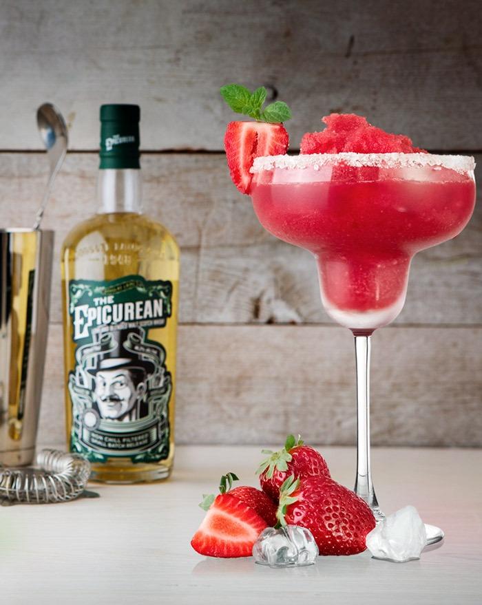 The Epicurean's Strawberry Daiquiri - en Hemingway Daiquiri med et skotsk twist