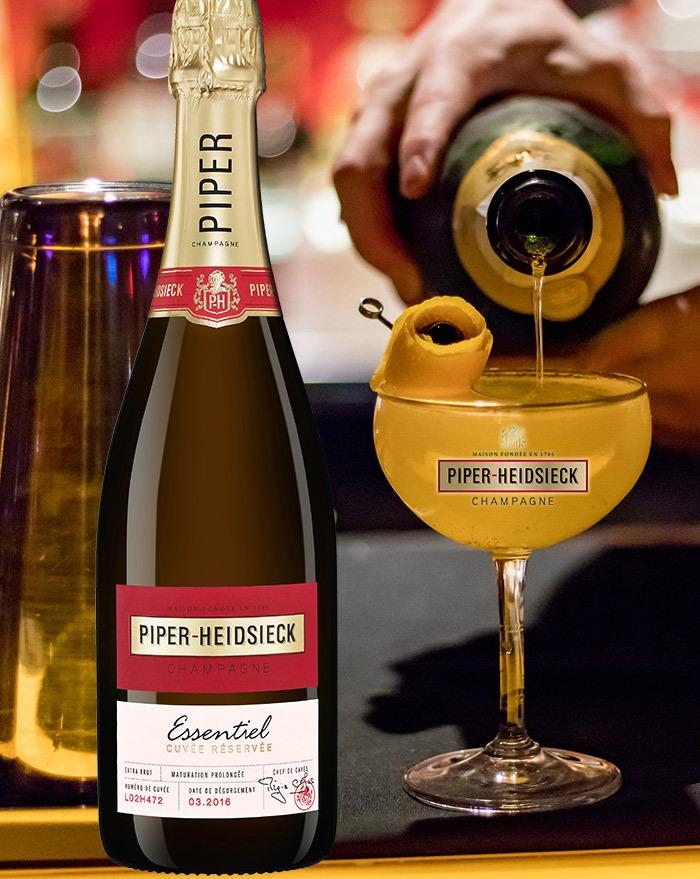 Den eksklusive udgave af French 75 cocktail med Piper-Heidsieck Champagne