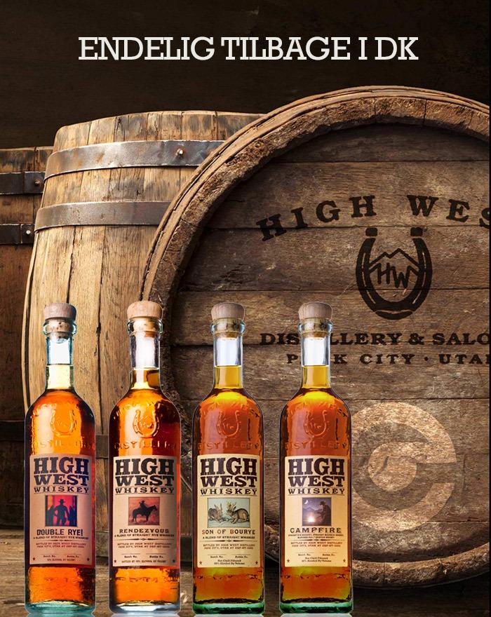 High West Distillery endelig tilbage i DK med super Whiskey