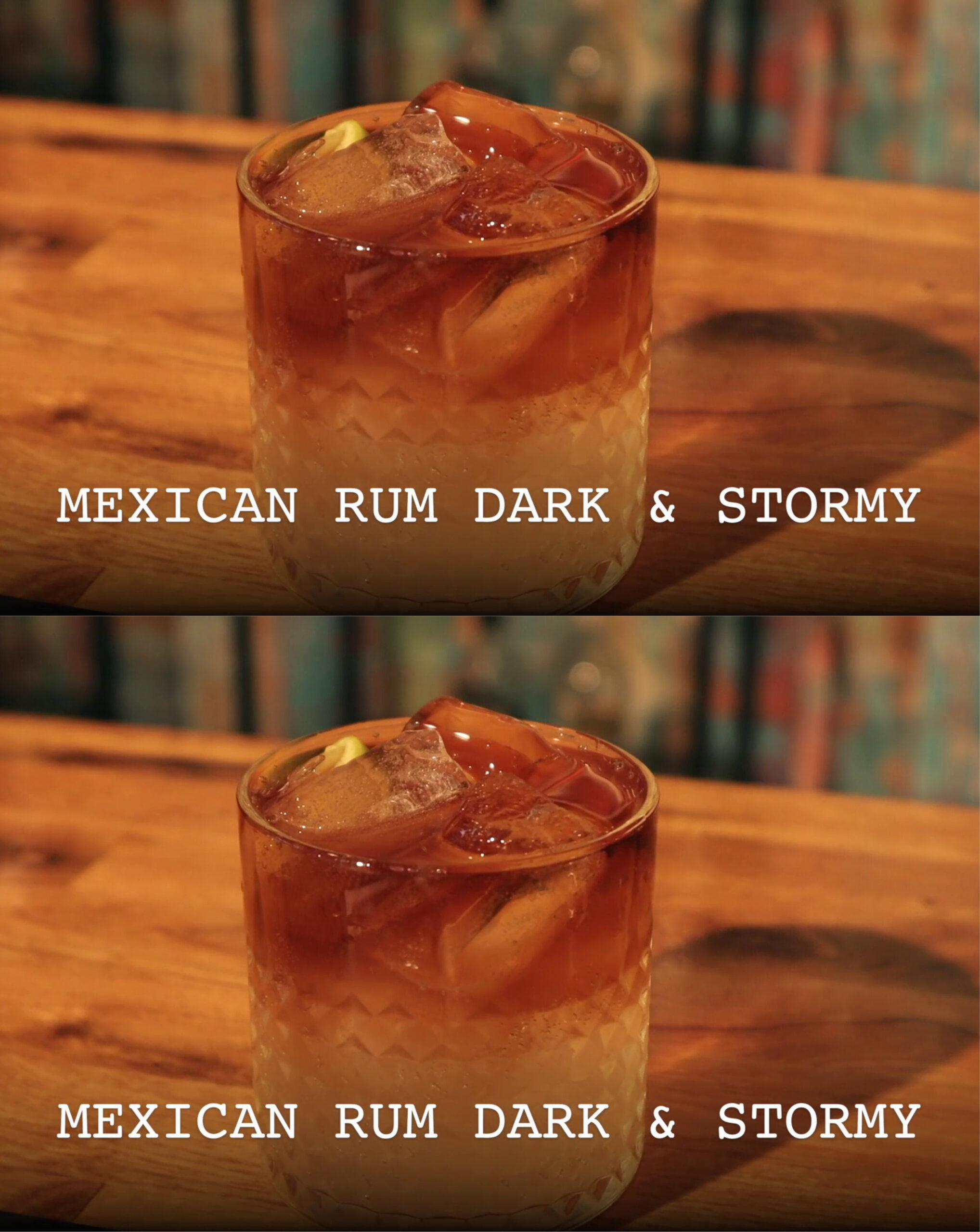 Mexicansk Dark & Stormy med El Ron Prohibido