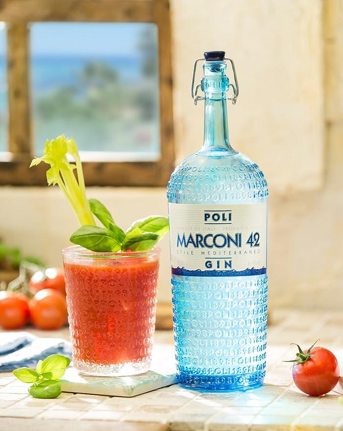 Har du prøvet en Bloody Mary med Poli Marconi 42 Gin?